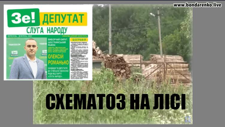 Депутати «слуги» та ОПЗЖ Романько, Слюсар та Гузей налагодили схему розкрадання лісу  — Ярослав Бондаренко